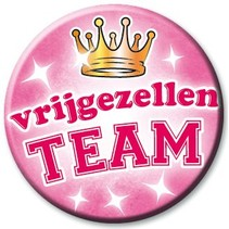 Paperdreams - Button - Vrijgezellenteam - Vrouw
