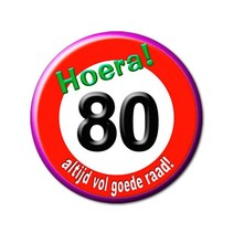 Paperdreams - Button - Klein - 80 Jaar