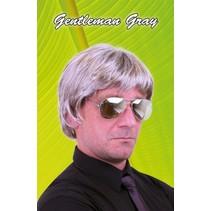 PartyXplosion - Pruik - Johan - Bruin/grijs