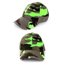 PartyXplosion - Pet - Camouflage - Fluor groen