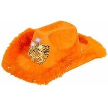 Folat - Hoed - Cowboy - Holland - Oranje - Met licht