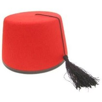 PartyXplosion - Hoed - Fez - Rood