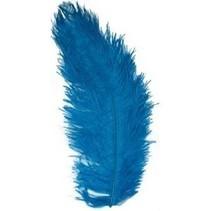 PartyXplosion - Veer - Zwarte piet - Spadonis - Turquoise - 50cm