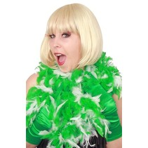 PartyXplosion - Boa - Wit/groen - 180cm/75 gram