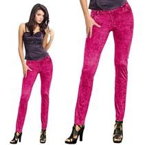 Folat - Legging - Jeans - Fluor roze