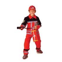 PartyXplosion - Kostuum - Brandweer - Rood - mt.164