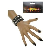 PartyXplosion - Armband - Punker - Zwart - Dubbel