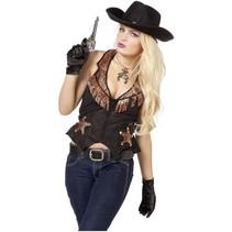 PartyXplosion - Vest - Cowgirl - Slangenleer - M