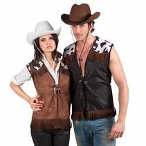 Boland - Vest - Cowboy - Koeienprint - L/XL