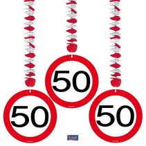 Folat - Hangdecoratie - 50 Jaar - 3st.