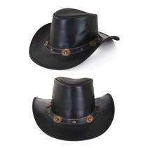 PartyXplosion - Cowboyhoed - Leder - Zwart
