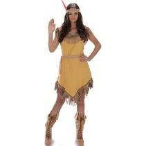 Partychimp - Kostuum - Indianenjurk - Geel - L
