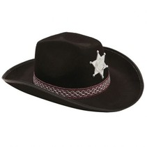 Partychimp - Hoed - Cowboy - Met Ster - Zwart