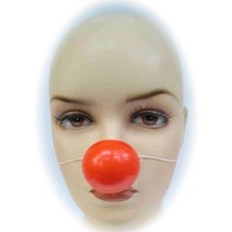 PartyXplosion - Clownsneus - Met elastiek - Rood