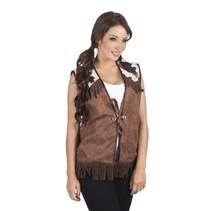 Witbaard - Kostuum - Vest - Cowboy - Bruin - M