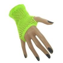 PartyXplosion - Handschoenen - Vingerloos - Net - Fluor groen - Kort