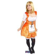 Folat - Kostuum - Hollands kaasmeisje - Oranje - S