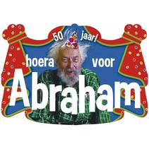 Witbaard - Huldebord - Hoera Abraham 50 jaar