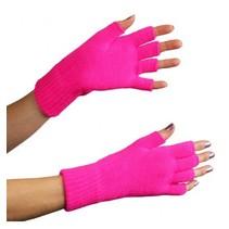 PartyExplosion - Handschoenen - Vingerloos - Fluor roze