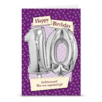 Miko - Kaart - Leeftijdballon - 10 Jaar
