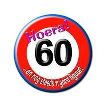 Paperdreams - Button - Klein - Verkeersbord - 60 Jaar