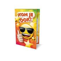 Interstat - Uitnodigingskaart - Emoji zonnebril - 6st.