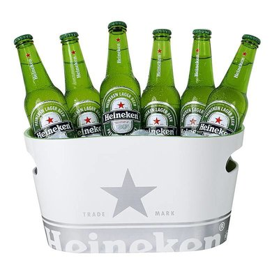 Heineken Single Walled Ice Bucket White