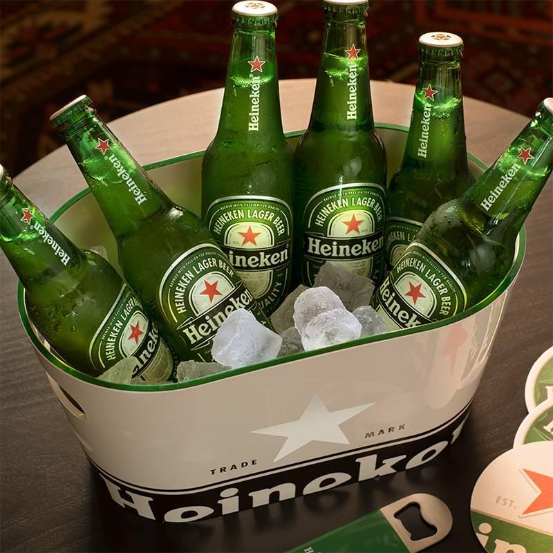 Heineken Single Walled Ice Bucket White