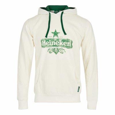 Heineken HOODED SWEATER WHITE MEN