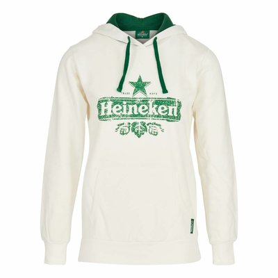 Heineken HOODED SWEATER WHITE WOMEN