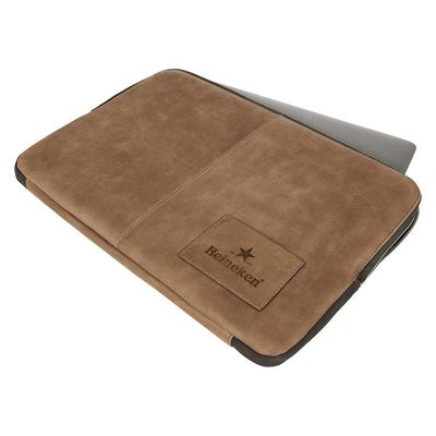 Heineken Heritage leather laptop sleeve