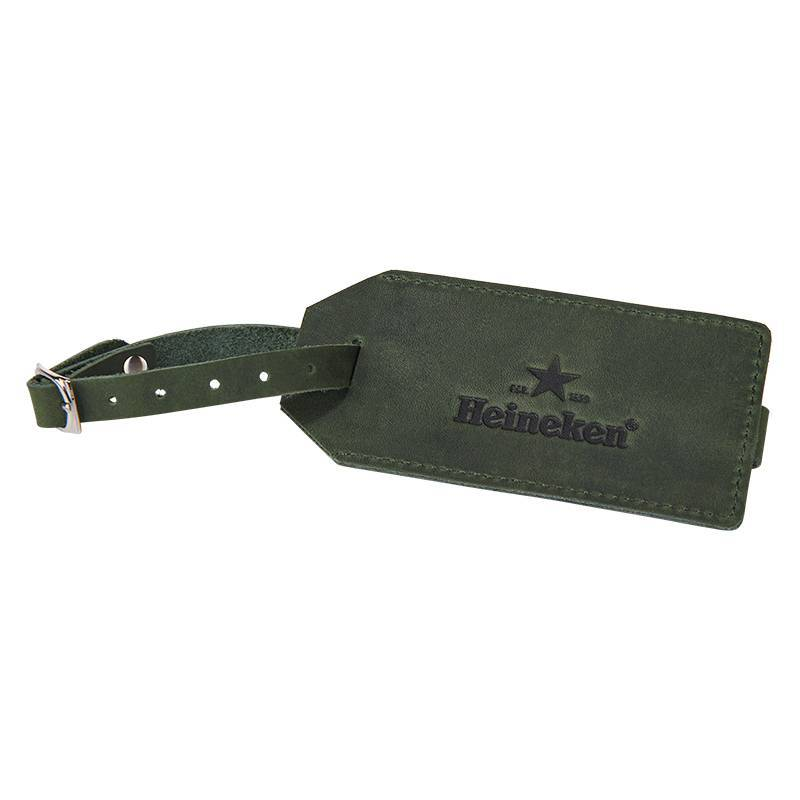 Heineken Retro  leather luggage tag