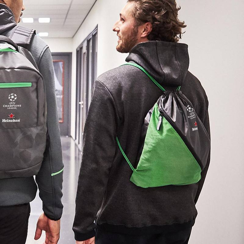 Heineken UEFA Champions League Green Drawstring Bag