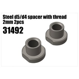 RS5 Modelsport Steel d5/d4 spacer with thread 2mm