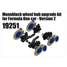 RS5 Modelsport Monoblock wheel hub upgrade kit for Formula One car - Version 2
