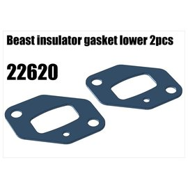 RS5 Modelsport Beast insulator gasket lower 2pcs