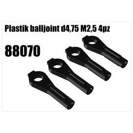 RS5 Modelsport Plastik balljoint d4,75 M2,5