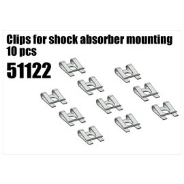 RS5 Modelsport Clips for shock's mounting 10pcs