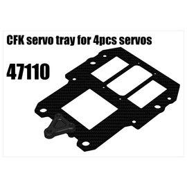 RS5 Modelsport CFK servo tray for  servos