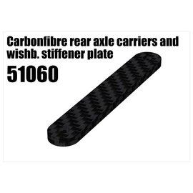 RS5 Modelsport CFK rear axle carriers and wishbone stiffener plate