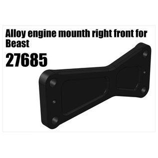RS5 Modelsport Alloy engine mount right front for Beast