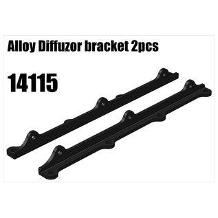 RS5 Modelsport Alloy diffuser bracket 2pcs