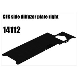 RS5 Modelsport CFK side diffuser plate right