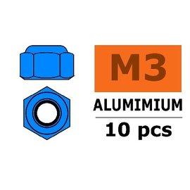 """G-Force Aluminium Sicherungsmutter """"blau"""", 10 stk"""