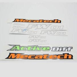 Mecatech Racing Decalset