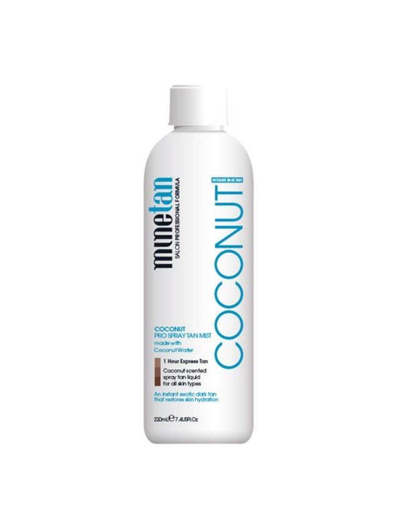 MineTan Mine Tan Pro Solution Coconut 14% DHA 220ml Spray Tanning Mist