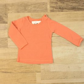 Fred & Ginger ORANJE T-SHIRTJE IN RIBTRICOT | Fred&Ginger | maat 62