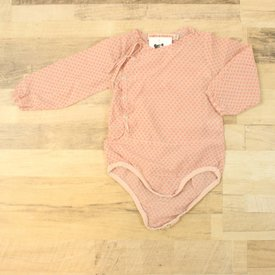 Fred & Ginger ROZE GEPRINTE PLAYSUIT  | FRED&GINGER | MAAT 9M