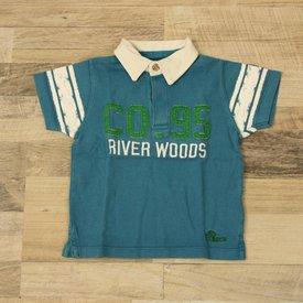 River Woods BLAUW BEDRUKT POLOSHIRTJE | River Woods | maat 18M