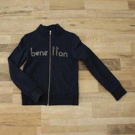 United Colors Of Benetton BLAUWE TRUI MET RITS | UNITED COLORS OF BENETTON | MAAT 140